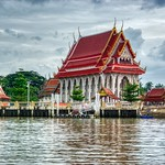 Temple by the Mae Klong river near Amphawa in Samut Songkhram province in Thailand thumbnail