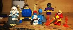 The Brotherhood of Evil Mutants (Lord Allo) Tags: lego xmen marvel brotherhood evil mutants avalanche blob mystique destiny toad pyro