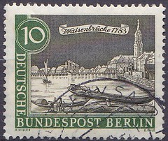 Deutsche Briefmarken (micky the pixel) Tags: briefmarke stamp ephemera deutschland bundespost berlin altberlin brücke bridge waisenbrücke