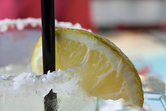 A bit of Lime (claryblaze) Tags: magarita lime salt glass cold drink vacation keywest florida lunch breezy green