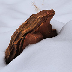 Sandstone in the Snow (arbyreed) Tags: arbyreed snow winter cold red redrock sandstone close closeup landscape intimatelandscape
