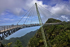 Langkawi Sky Bridge/Malaysia (meren34) Tags: sky bridge malaysia langkawi green cablecar engineering architecture exterme clouds sea travel south asia construction suspension happyplanet asiafavorites