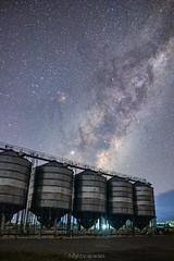 Silos full of stars (nightscapades) Tags: astronomy astrophotography currawang galacticcore goulburn marulan milkyway night nightscapes sky southerntablelands stars tirrannaville newsouthwales australia au