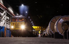 Safe and Sound (Wulfruna) Tags: 6m08 grid 56078 colas steel freight railway diesel locomotive bostonsteel uk england washwoodheath shed metcam coils crane