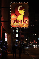 The Redhead (Anthony Mark Images) Tags: theredheadpianobar bar neonlights chicago iiiinois usa night street cars peoplewalking nightshot city wink redhair hairband