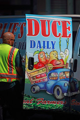 Duce Daily (Ian Sane) Tags: ian sane images ducedaily deuce number2 man produce delivery van vegetables candid street photography southwest broadway downtown portland oregon whimsicalwednesday humorous canon eos 5ds r camera ef70200mm f28l is usm lens
