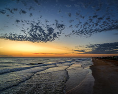 Quilted surf sunrise (Ed Rosack) Tags: usa sand sunrise calm nature flaglerbeach surf ©edrosack panorama florida lights beach ocean cloud buildingandarchitecture seascape sky centralflorida landscape water building house cloudy dawn shore us edrosackcom