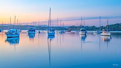 Still-waters_DSC7683 (Mel Gray) Tags: lakemacquarie lake australia australiansunset sunset newsouthwales newcastle boats water waterscape