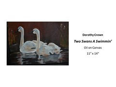 "Two Swans A Swimmin' • <a style=""font-size:0.8em;"" href=""https://www.flickr.com/photos/124378531@N04/32914644698/"" target=""_blank"">View on Flickr</a>"