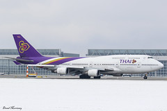 Thai Airways 747-400 HS-TGZ (birrlad) Tags: munich muc international airport germany aircraft aviation airplane airplanes airline airliner airlines airways taxi taxiway takeoff departing departure runway snow weather cloud boeing b747 b744 747 747400 7474d7 hstgz thai