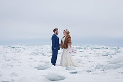 Upon Lake Superior (Camelot Photography Minnesota) Tags: weddings wedding weddingphotography weddingphotographer bride best groom great love landscape lake lakeshore amazing awesome ice candid cold frigid mn minnesota duluth danger superior lakes