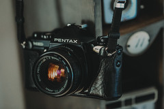 a beaut... (Jess Feldon) Tags: camera pentax pentaxmg jessfeldon lookslikefilm vintagecamera cameracollection lens light