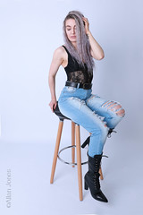 Tamsin Job (Allan Jones Photographer) Tags: tamsinjob modeltamsinjob fashion model portrait beauty jeans rippedjeans denim boots allanjonesphotographer canon5div goodphoto