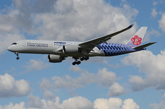 China Airlines Carbon Fibre Livery A350-941 (B-18918) ONT Approach 2 (hsckcwong) Tags: chinaairlines a350941 a3509 a350 b18918 carbonfibrelivery kont ont