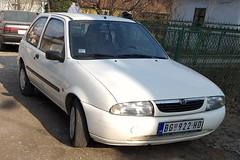 1999 Mazda 121 (FromKG) Tags: mazda 121 white car kragujevac serbia 2019