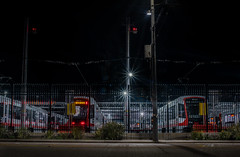 new lightrail trams at the metro east facility (pbo31) Tags: sanfrancisco city urban nikon d810 color night dark black february 2019 boury pbo31 dogpatch yard metro muni tram