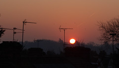 Hazy sunrise 27 Feb 2019 (Sculptor Lil) Tags: london canon700d sunrise