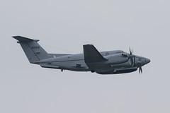 84-00158 Beech C-12U US Army Prestwick 28.02.19 (Robert Banks 1) Tags: 8400158 40158 beech be20 c12 c12u us army united states of america prestwick egpk pik super king air