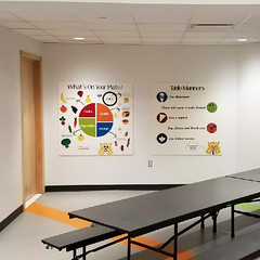 Acrylic Graphic Prints (2/90 Sign Systems) Tags: 290 sign signs signage systems wayfinding facility modular 290signsolutions acrylic full color direct print poster graphics child care school education classroom seasons food