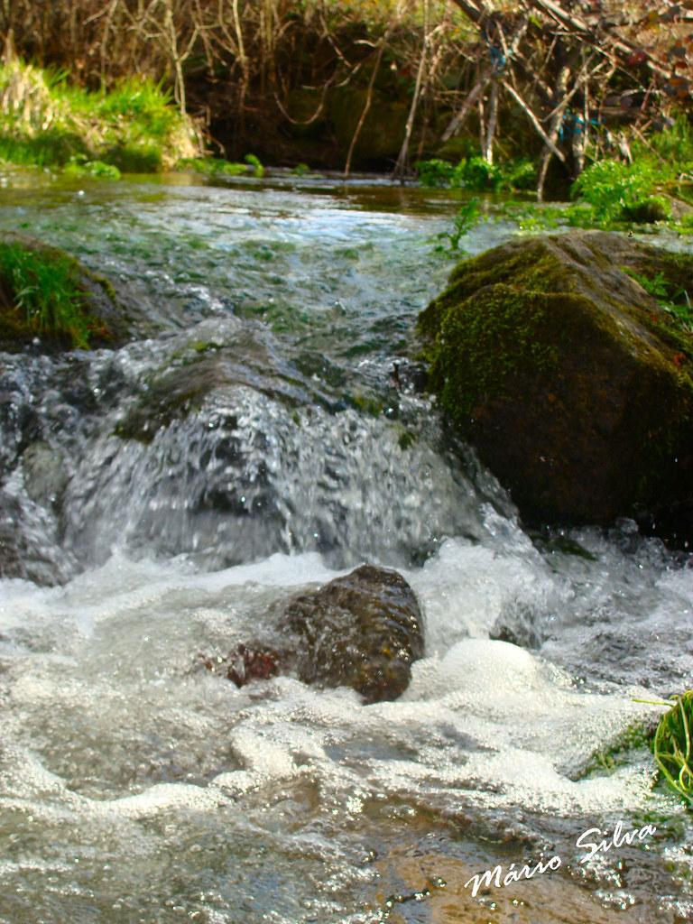 Águas Frias (Chaves) - ... a água do ribeiro saltitando por entre as pedras ...