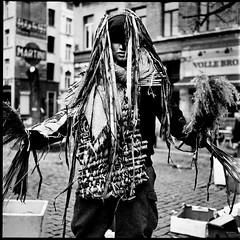 Carnaval Sauvage de Bruxelles 2019 (Laurent Orseau) Tags: costume mask rolleiflex 6x6 bw blackandwhite