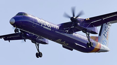 Flybe Q400 (Bernie Condon) Tags: bombardier dash8q400 dash 8 q400 airliner passenger flybe sou southampton transport airport aircraft landing approach hants uk airline
