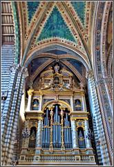 the organ............ (atsjebosma) Tags: organ orgel orvieto tuscany italy blue blauw architecture architectuur 2018 atsjebosma city coth coth5