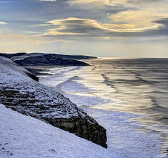 Made to Disappear (pauldunn52) Tags: glamorganheritagecoast witches point snow headlands sea waves wales