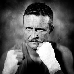 Boxer Frank on a plate ([Eric OLIVIER]) Tags: portrait collodion alternativ process wetplate ritratto boxeur closeup noiretblanc blackandwhite bw largeformat analog filmisnotdead fineart boxe boxer