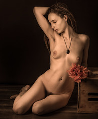 Bohemian Fantasy (johnarobb) Tags: necklace nude bohemian armpit hair pubic unshaven natural