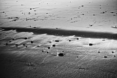 Wet sand II (mgschiavon) Tags: blackandwhite blackwhite bw beach contrast abstract california