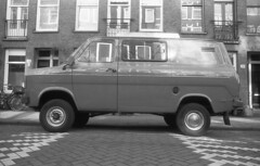 Transit pimped (Arne Kuilman) Tags: amsterdam nikon fm3a vivitar 28mm luckyshd iso100 id11 7minutes homedeveloped stock analogue film fordtransit van wheels bus busje retro