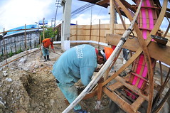 09.04.19. Concretagem de pilar - Passarela Av.Torquato Tapajos