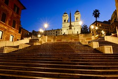 Early morning calm at the Spanish Steps (joanne clifford) Tags: architecture architect francescodesanctis fujifilmxt3 bluehour spanishsquare piazzadispagna trinitàdeimonti spanishsteps italy rome