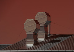 The Waffle House (Steve Taylor (Photography)) Tags: chimney architecture design roof cherise grey strange odd metal newzealand nz southisland canterbury christchurch corrugated shape shiny