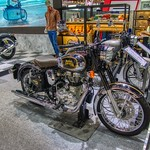 Royal Enfield motorbike at the 35th Thailand International Motor Expo at IMPACT Challenger hall in Muang Thong Thani, Nonthaburi thumbnail
