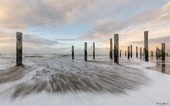 Sunset in Petten (Wim Boon Fotografie) Tags: wimboon petten storm holland nederland netherlands natuur nature winter wind noordzee beach palendorp sunset canoneos5dmarkiii canonef1635mmf4lisusm leefilternd09softgrad leefilternd06
