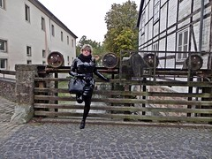 Latexspaziergang (Gabriela Brown) Tags: latex rubber gummi outdoor outside heels black highheels woman girl frau blond