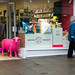 Neon pink! (tonguedevil) Tags: outdoor outside town street path pavement shops people sheep colour kendal lakedistrict