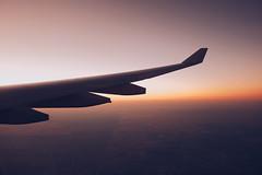 where it's already tomorrow (tropeone) Tags: australia qantas airways oneworld fujifilm x100f wing view sunrise down under travel travelogue airbus a330 outback dusk