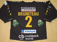 #2 Nick BRUNETEAU Game Worn Jersey (kirusgamewornjerseys) Tags: hc pustertal val pusteria bruneck game worn jersey alps league nick bruneteau