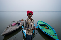 Faces of Varanasi- II (A. adnan) Tags: varanasi india travel boat morning portrait people