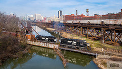 NS V30 Shiplock Drone 5646 (HeritageNY) Tags: richmond virginia unitedstatesofamerica us ns train kanawha canal drone emd csx grain
