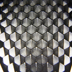 Patterns (donnicky) Tags: abstraction artificialillumination blackwhite cell closeup dof geometricshape honeycomb indoors light macro nopeople pattern publicsec repeatingelements studioshot