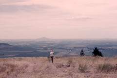 Childhood photo of me at Skyline Drive with Steptoe Butte in the background.  Looking across the idyllic Palouse fields. (theslowlane) Tags: me steptoe palouse 1963 mychildhood