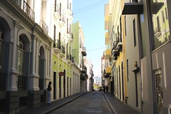 Old Town San Juan (Prayitno / Thank you for (12 millions +) view) Tags: old town sju san juan puerto rico caribbean cobble stone colorful colonial style architecture architect building yellow green street road beauty charming city