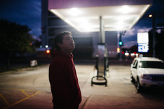 Yovanny (Zack Huggins) Tags: canoneos5dmarkii canonef35mmf14lusm vscofilm pack01 dentontx midwaymart gasstation portrait bokeh dof cinematic dramatic availablelight lowlight highiso handheld backlight wonder flashback throwback wideangle
