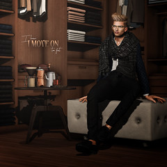 I know I move on too fast (Satuex Resident) Tags: troussers shoes blazer ascend pose wrong backdrop wardrobe man men dude guy gay teen twink boy blonde secondlife fashion virtusl angelking 220ml coffee david heather scarf