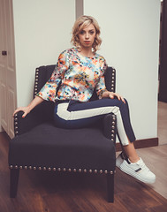 Leah (shaymurphy) Tags: leah model fashion photo photography runners sneakers blond blonde woman leather couch red trousers nikon d750 nikkor 2470 cotton threadz clothing carol sheridan interiors lara belle makeup hair yvonne curtis pretty beautiful irish gorgeous beauty interior inside indoors smp7536