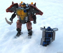 Armada_Rhinox_03 (Vexwing) Tags: transformers rhinox armorhide armada beast wars minicon autobot toy toyphotography snow transmetal